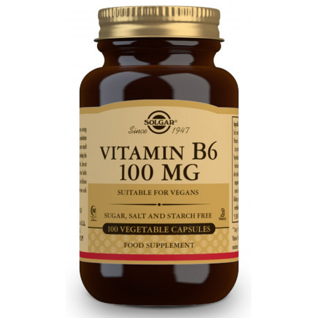 Vitamina B6 100 mg 100 cap Solgar