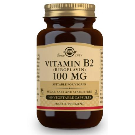 Vitamina B2 100 mg (Riboflavina) - 100 Cápsulas vegetales