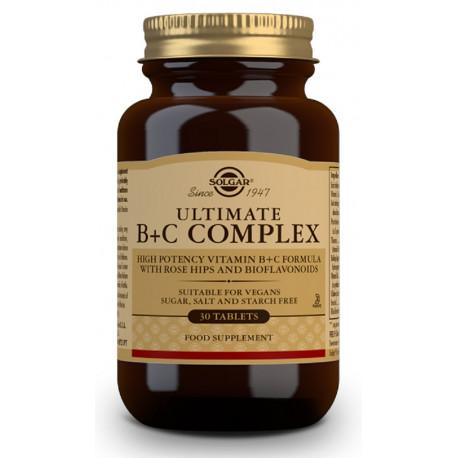 Ultimate B + C Complex - 30 Comp. Solgar