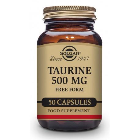 Taurina 500 mg - 50 Cáp. vegetales Solgar
