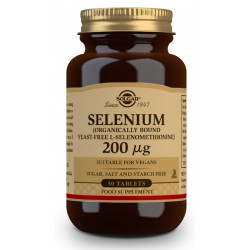 Selenio sin levadura 200Mcg 50 Comp Solgar