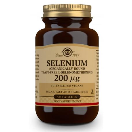 Selenio 200 µg (Sin levadura) - 50 Comprimidos