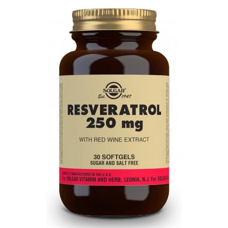 Resveratrol 250 mg con Extracto de Vino Tinto - 30 Cápsulas blandas