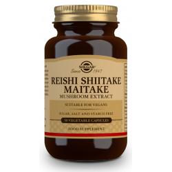 Reishi Shiitake Maitake 50 capsulas Solgar