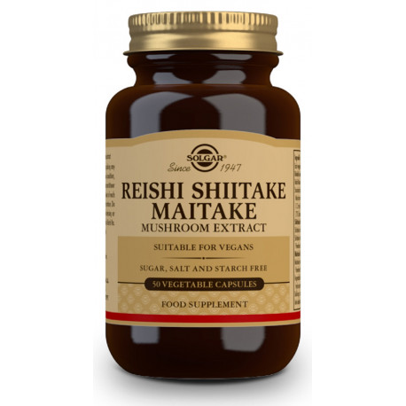 Reishi, Shiitake y Maitake (Extracto de Hongos) - 50 Cáps vegetales