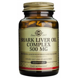 Aceite de hígado de tiburón Complex 500Mg perlas Solgar