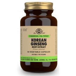 Ginseng Coreano Extracto de Raíz (Panax ginseng) - 60 Cáps vegetales