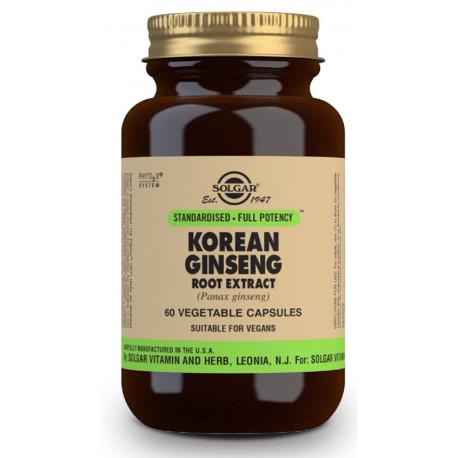 Ginseng Rojo Coreano 60 capsulas Estandar Solgar