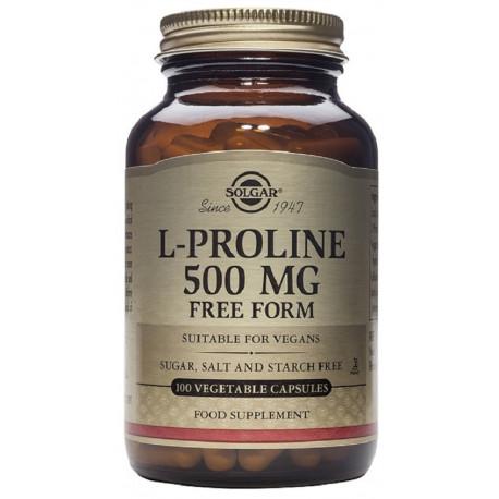 L-Prolina 500 mg - 100 Cáps vegetales Solgar