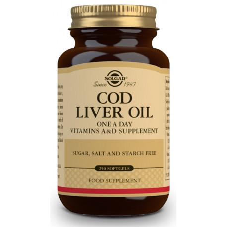 Aceite de Hígado de Bacalao (una al día) - 250 cáp blandas Solgar