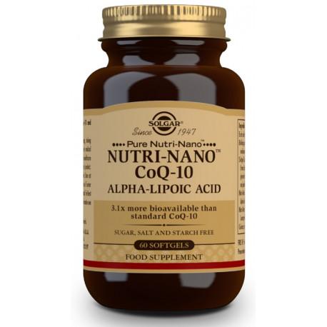 Nutri-NanoTM CoQ-10 con Ácido Alfa-Lipoico - 60 Cáps blandas Solgar