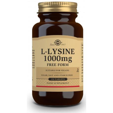 L-Lisina 1000 mg - 250 Comp Solgar