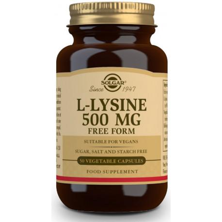 L-Lisina 500 mg - 50 Cápsulas vegetales
