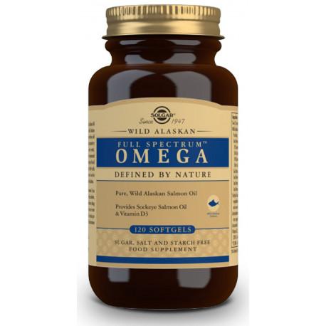 Full Spectrum™ Omega - Aceite de Salmón Salvaje de Alaska - 120 Cáps blandas Solgar