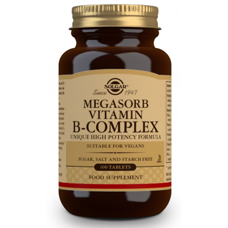 Megasorb Vitamina B-Complex 50 - 100 Comp Solgar