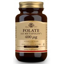 Folato (como Metafolin®) 400 μg - 100 Comp Solgar