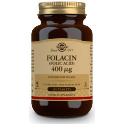 Folacín. Ácido Fólico 400 µg - 250Comp Solgar