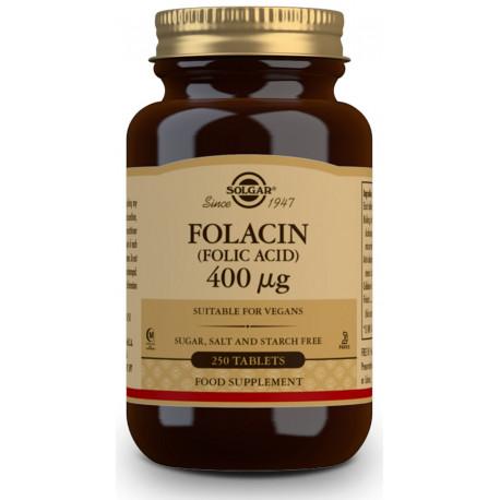 Folacín. Ácido Fólico 400 µg - 250 Comp Solgar
