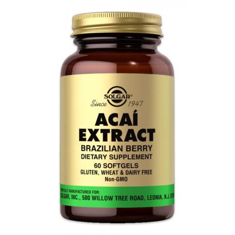 Super Acaí (Açai) Extracto - 60 Cáps blandas