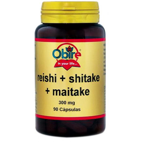 Reishi + Shitake + Maitake 300 mg.