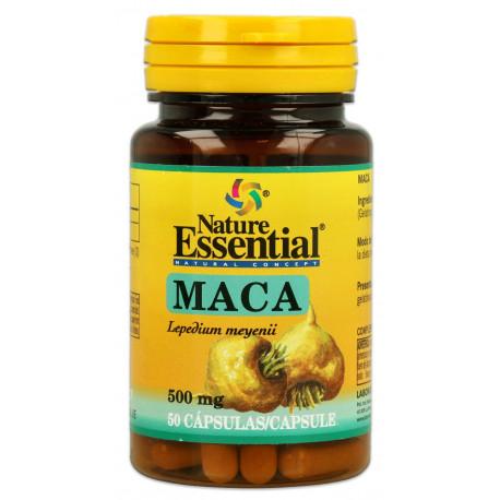 Maca (Lepidium meyenii) 500 mg.