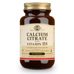 citrato de calcio, con vitamina D3, 60 comp