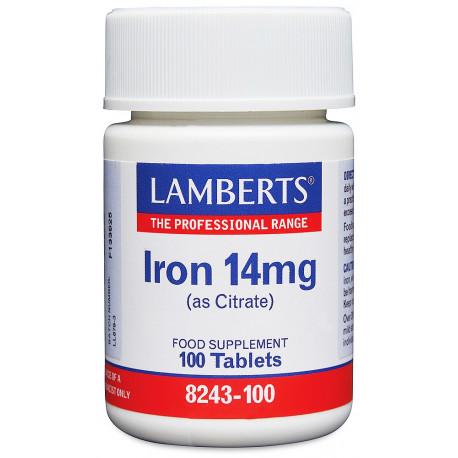 Hierro 14 mg Como Citrato. Mayor absorción