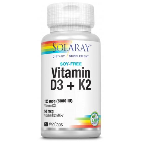 Vitamina D3 & K2 60 caps Solaray