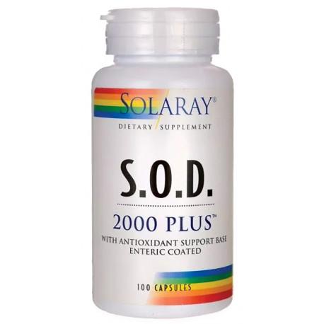 S.O.D. 2000 Plus 400Mg 100 cap Vegetales Solaray