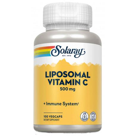 Liposomal Vitamina C 500mg 100 Cápsulas Solaray