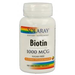 Biotina sublingual 1000 μg 100 caps Solaray