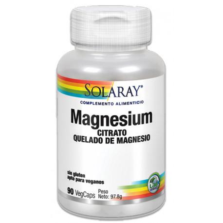Citrato quelado de magnesio 90 cap Solaray