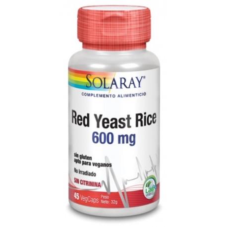 Red yeast Rice Levadura Roja De Arroz 45 capsulas Solaray