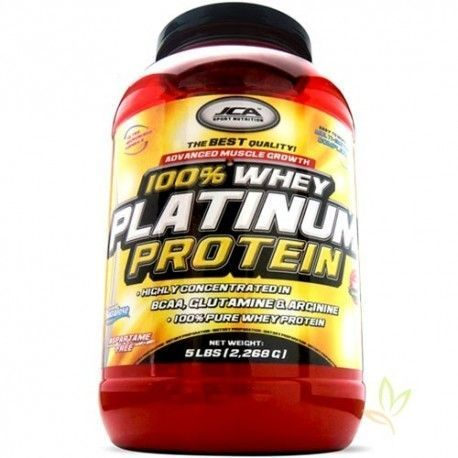 Whey Platinum Protein 100% (Proteina de suero) 2,268 Kg. Fresa