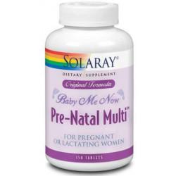 Baby Me Now Prenatal 150 comprimidos Solaray