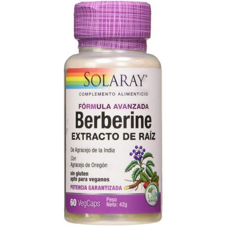 Berberine Esxtracto de raíz 60cap Solaray