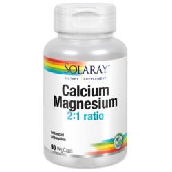 Calcium Magnesium 2:1 ratio 90 capsulas Solaray