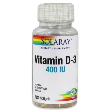 Vitamina D-3 400Ui120 perlas Solaray