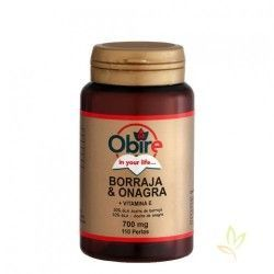 Borraja (Borago officinalis L.) + Onagra 700 mg.
