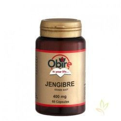 Jengibre (Zingiber officinale) 400 mg