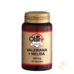 Valeriana + Melisa 400 mg. 60 Cápsulas
