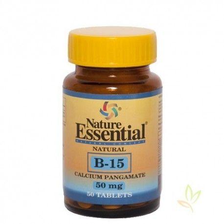 B-15 (Pangamato de calcio) 50 mg.
