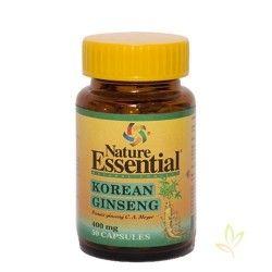 Ginseng coreano (Panax ginseng Meyer) 400 mg.