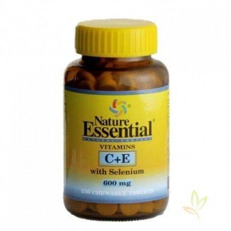 Vitaminas C y E con Selenio 600 mg.