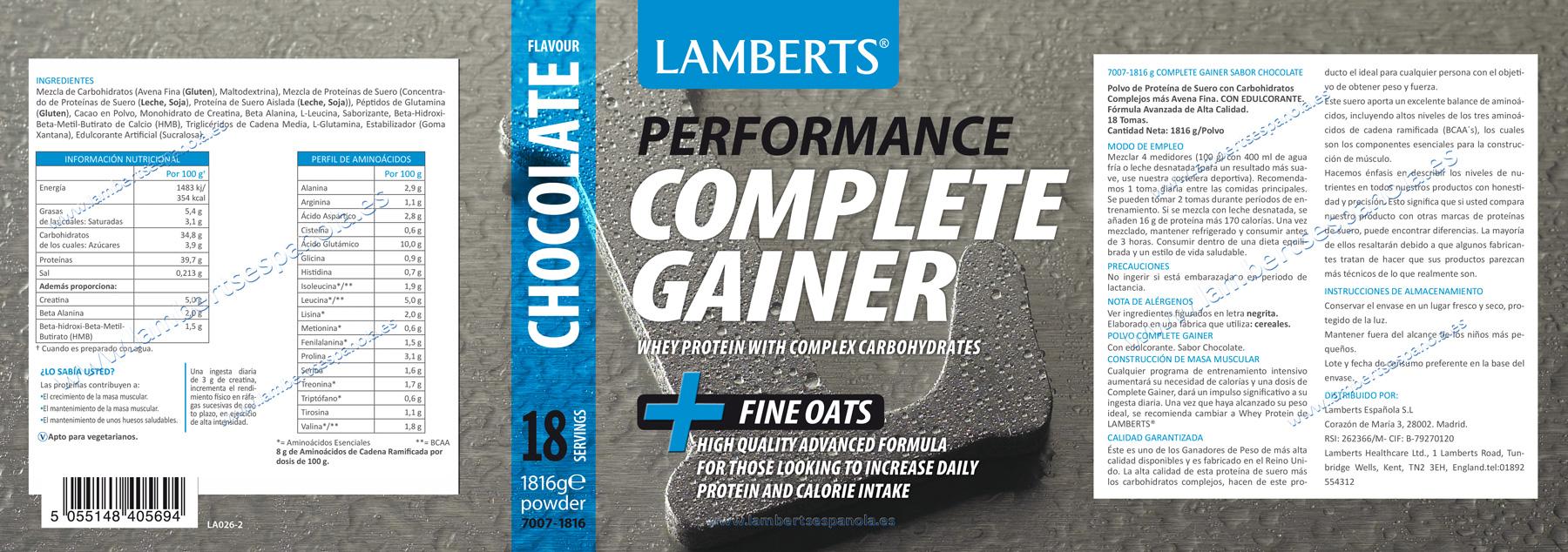 Proteínas Complete Gainer