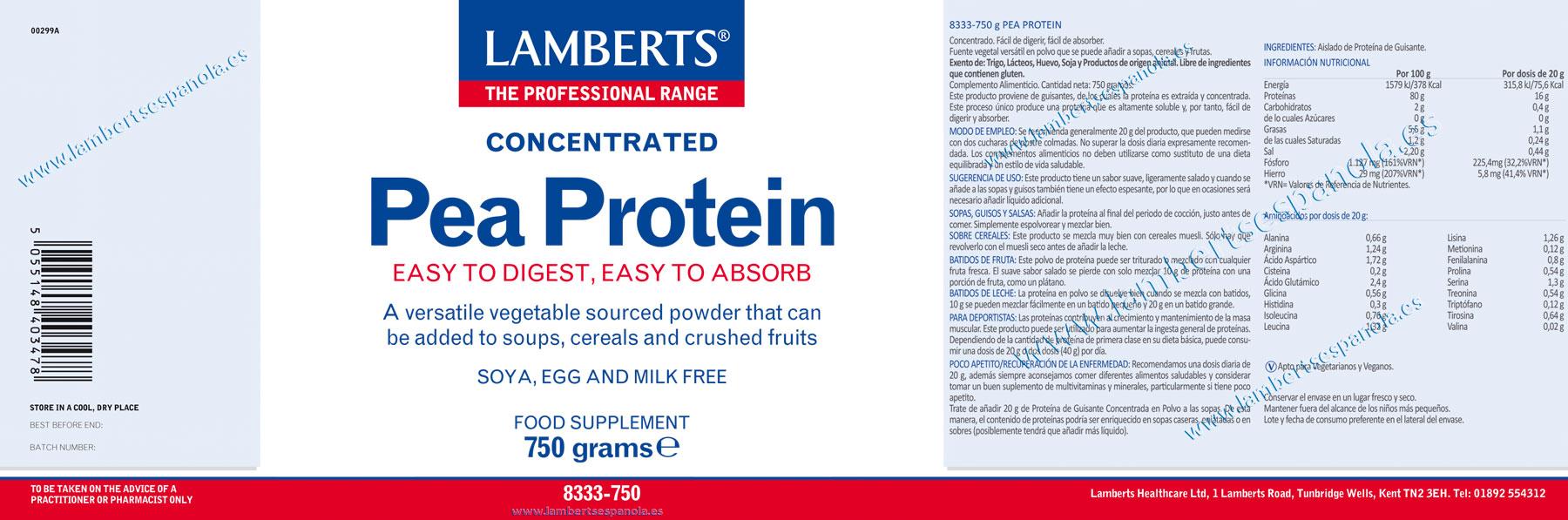 Proteína de guisantes