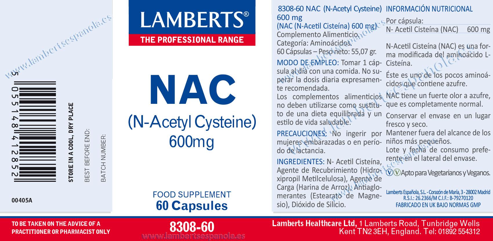 NAC (N-Acetilcisteína)