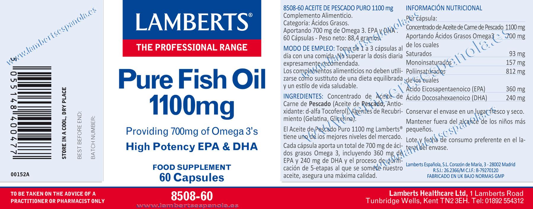 Aceite puro de pescado