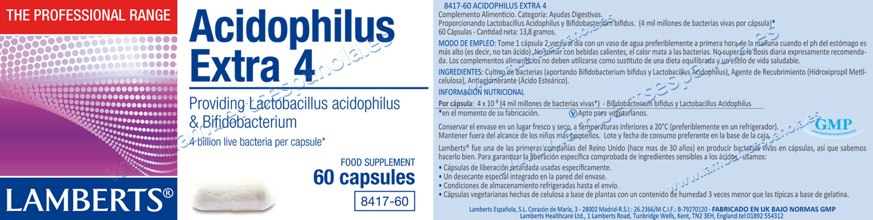 Probióticos acidófilus