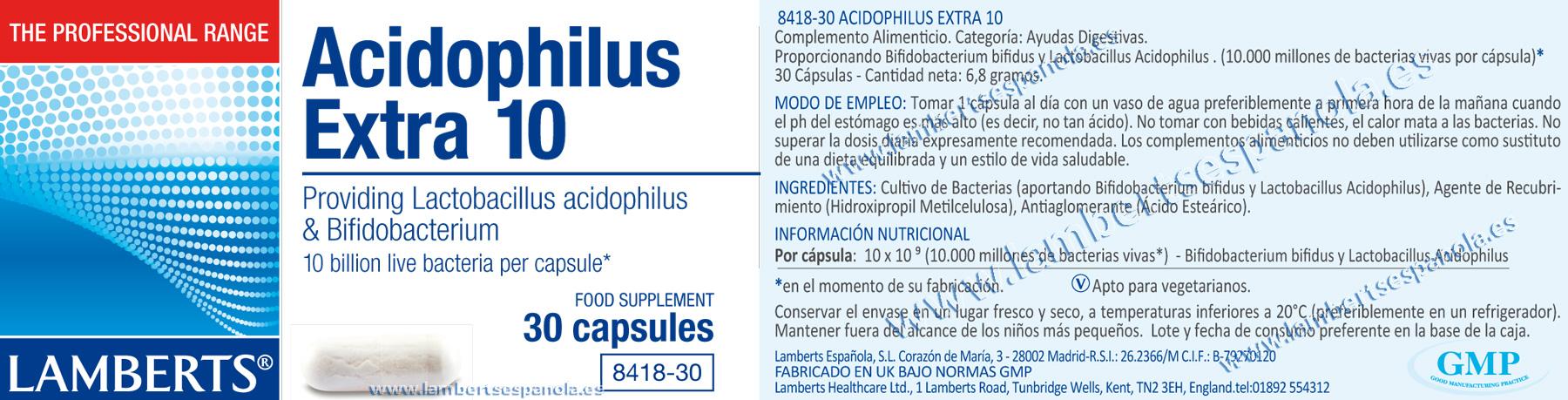 Acidófilus Extra 10